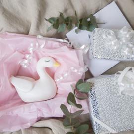 Zwaan nachtlampje met naam   Jabadabado Nighlight Swan White