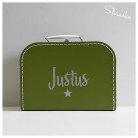 Kinderkoffertje met naam en sterretje