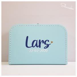 Kinderkoffertje met naam - Simplicity Stoer | Kraamcadeau met naam