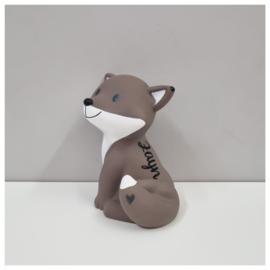 Cesar Vos warm grijs spaarpot met naam   Atelier Pierre Spaarpot   Money Box