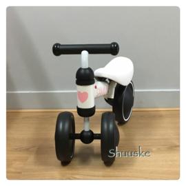 baby loopfiets / Vroombike  met naam - Wit