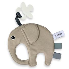 Speendoekje / Tutdoekje Olifant - Elephantastic | Cream