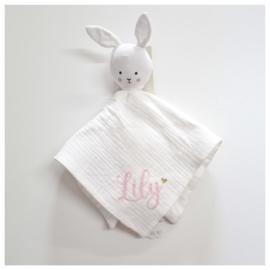 Jabadabado Knuffeldoekje Konijn met Naam | Comfy Blanket Bunny