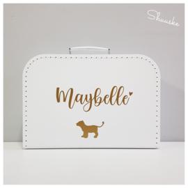 Kinderkoffertje met naam en leeuwenwelp
