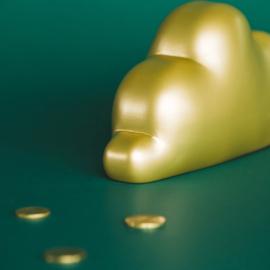 Dreams wolk spaarpot met naam   Atelier Pierre Spaarpot   Money Box Goud