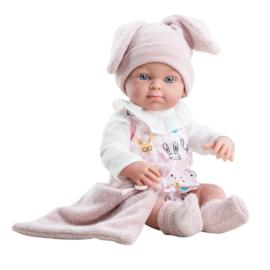 Pop Mini-Pikolines meisje, met doek en mutsje (32cm)