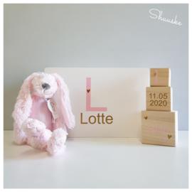 Kraampakket Herinneringenkist met knuffel Happy Horse - Letterliefde meisje | Voordeelpakket