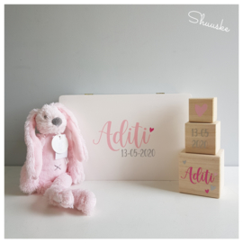 Kraampakket Herinneringenkist met knuffel Happy Horse - meisje | Voordeelpakket