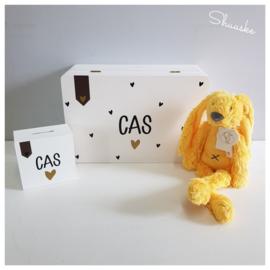 Kraampakket Herinneringenkist met happy horse knuffel en Spaarpot | Label Of Love hartjes Voordeelpakket