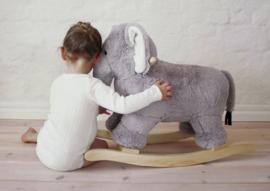 Houten Hobbelolifant met naam   Hobbelolifant Pluche met naam   Jabadabado Rocker Elephant