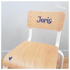 Industrieel Kinderstoeltje   Stoer Kinderstoeltje met naam   Kinderstoeltje metaal