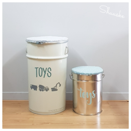 Grote Speelgoedton / speelgoedemmer met Naam