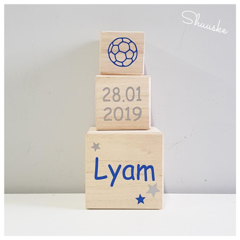 houten blokken met naam - 6