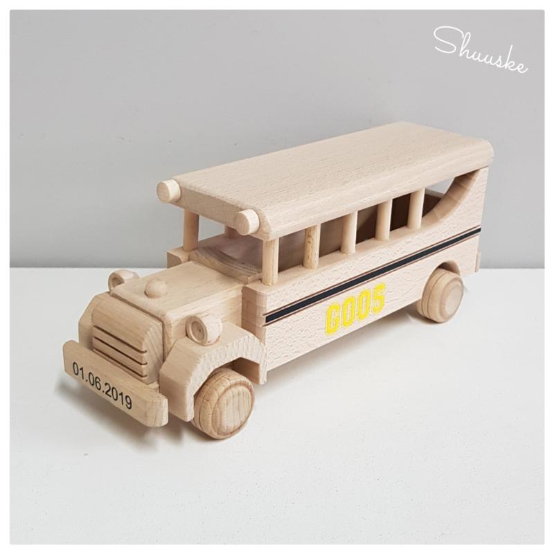 Houten Schoolbus   Beukenhouten Schoolbus