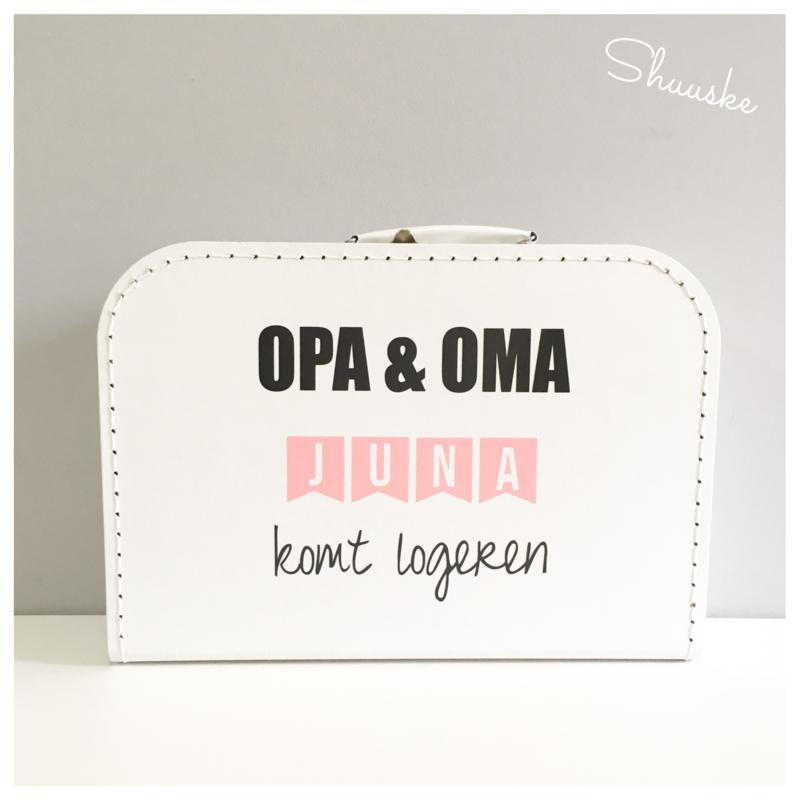 Koffertje voor Opa & Oma