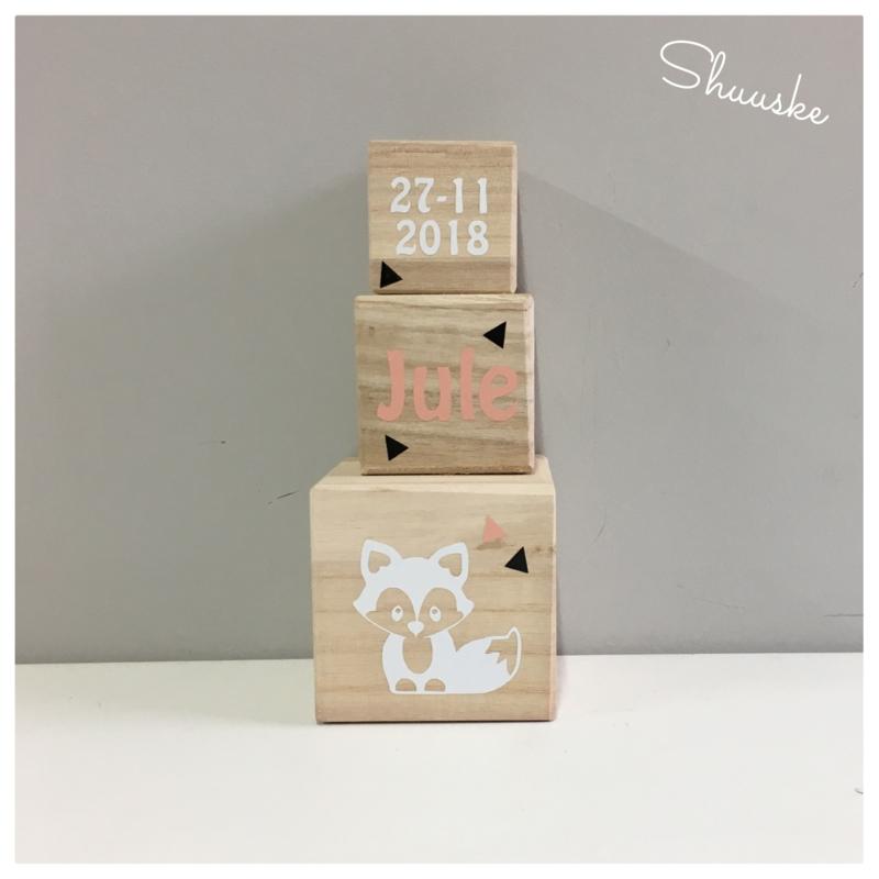 houten blokken met naam - 5