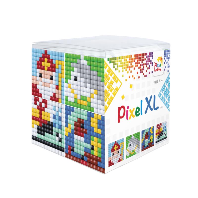 Pixelhobby XL kubus met 4 mini schilderijtjes - SINTERKLAAS