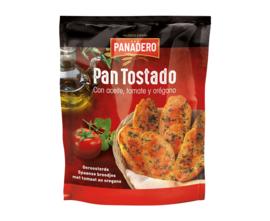 Panadero Pan Tostado met tomaat en oregano