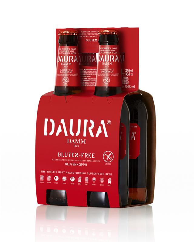 Daura Damm glutenvrij 0,33liter (4-pack)