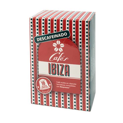 Cafés Ibiza capsules 10st. decafé (Nespresso)