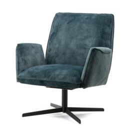 fauteuil vivian velvet blauw