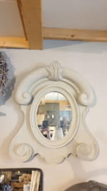 Ossenoog spiegel taupe