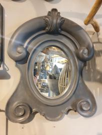 Ossenoog spiegel antraciet