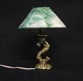 VM-FA11093 Tudor tafellamp met groen gemarmerde kap