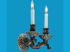 WH-EL163D Tudor Dubbele Kaarslamp