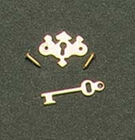 HW1103 Chippendale sleutelplaat met steutel, per 6 stuks