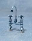 SAD-DIY669 Zilverkleurige dubbele tapkraan