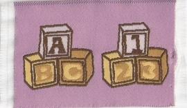 SAD-D1572A Blokkenkleedje Roze