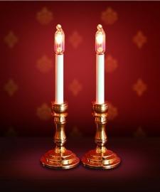 SAD-DE023 Set van 2 Kaarslampen