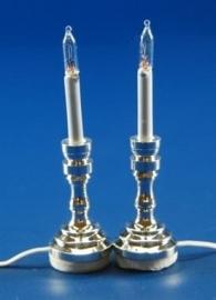 VM-FA11045 Set van 2 kaarslampen, zilver
