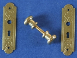 WH-HW23 Set van 2 Victoriaanse Deurplaten met Deurknoppen