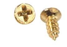 HW1106 Kleine gouden schroeven (20 stuks)
