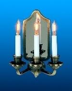 WH-EL315 Spiegellamp met 3 kaarsen