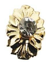 HW1141 Kopere deurknop met kristallen knop
