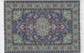 SAD-D698B Turks tapijt blauw 10 x 14cm