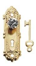 HW1143 Opryland deurplaat met kristallen knop