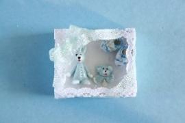 WH-TA158 Blauwe baby kadoset