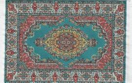 SAD-D698D Turks tapijt turq 10 x 14cm
