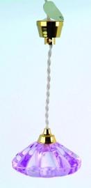 """SAD-DE125B Hanglamp roze kap """"Coolie"""""""