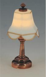 CR-2254 LED Koperen tafellamp met witte kap