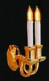 SAD-DE090 Luxe wandlamp dubbele kaarsen
