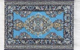 SAD-D697A Turks tapijt licht blauw 5 x 7cm