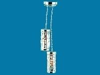 WH-EL306 Moderne dubbele zilverkleurige hanglamp