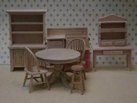 WH-BU211 8-delige keukenset (blank hout)