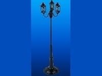 WH-SBLED297 Zwarte straatlantaarn drievoudige koetslamp