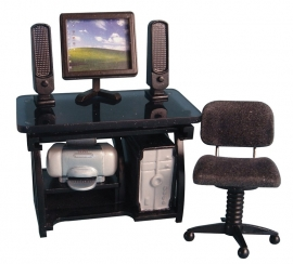 SAD-DF997 Computer werkplek zwart